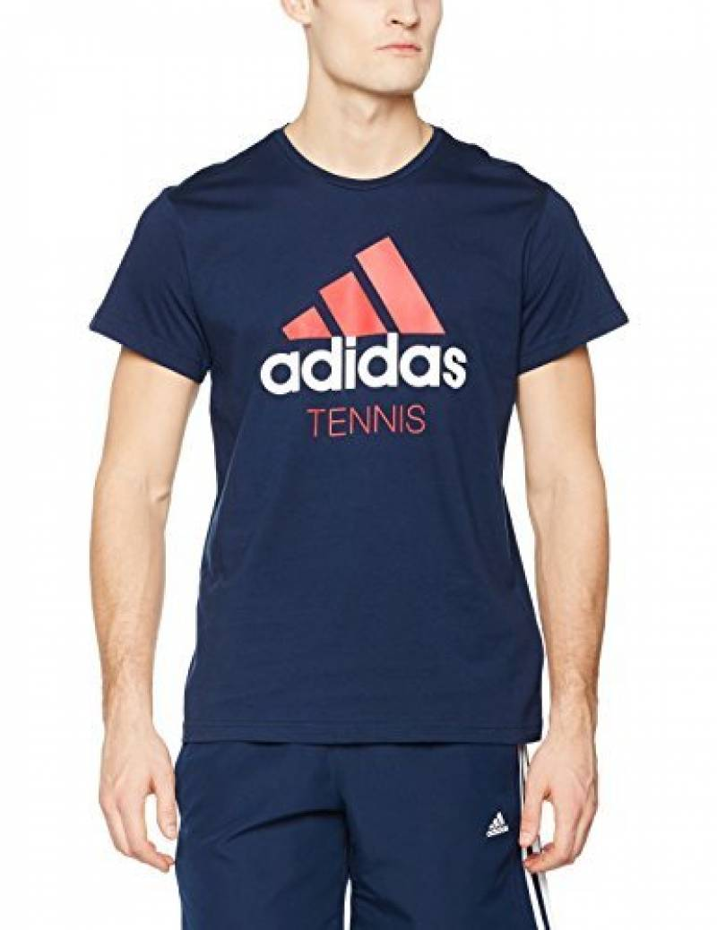 Adidas tennis–T-shirt pour homme, couleur bleu de la marque adidas TOP 1 image 0 produit