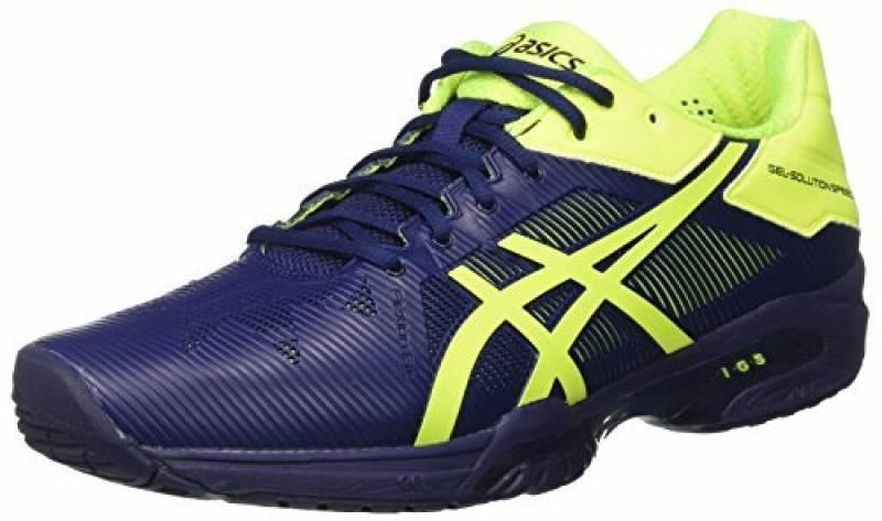 Asics Gel-Solution Speed 3, Chaussures de Tennis Homme, Bleu Foncé/Jaune de la marque Asics TOP 12 image 0 produit