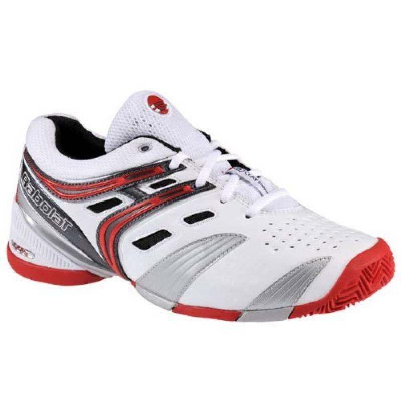 Babolat V-Pro 2Clay M - Chaussures de Tennis, modèle 2013, pour homme, Adulte mixte, Weiß/Schwarz/Silber/Rot, 40.5 EU de la marque Babolat TOP 14 image 0 produit
