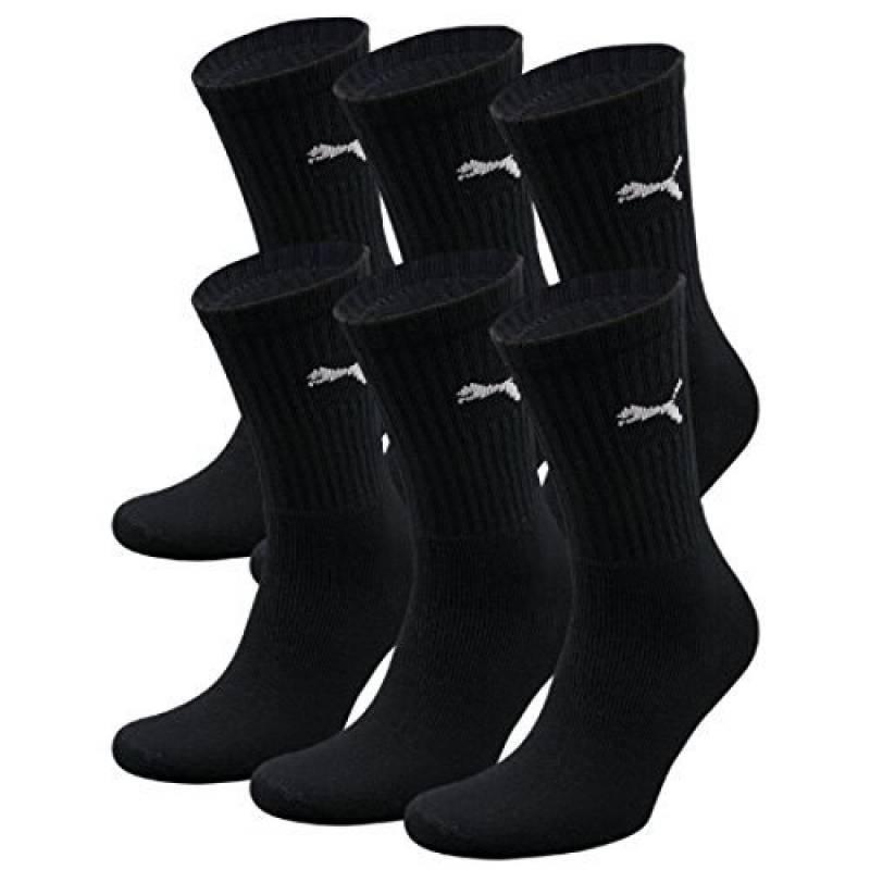 timeless design 08a6d 9e117 Puma Crew Lot de 6 paires de chaussettes de sport avec dessous en éponge  Noir noir