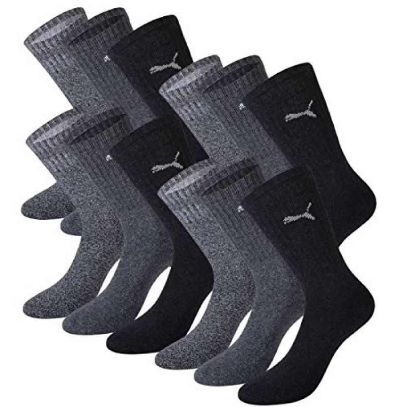 best loved e3cc2 54c7d Puma Unisexe Crew Chaussettes Chaussettes Chaussettes de sport avec semelle  en éponge Pack de 12 -