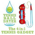 Tennis Sèche- Ball - 4-en- 1 accessoire Tennis - Voté «Meilleur Tennis Gadget » - Comprend quatre Grands fonctionnalités de 1. Le cadeau parfait pour Tennis ne TOP 1 image 0 produit