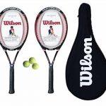 Wilson Lot de 2 raquettes de Tennis 100 Enforcer Housse de transport 3 150 balles de Tennis de la marque Wilson TOP 4 image 0 produit
